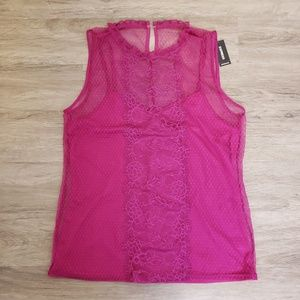 EXPRESS   Sheer Lace Camisole Layered Tank